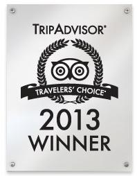 TripAdvisor 2013 Travelers' Choice award